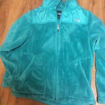 Northface Hooded Fleece Green Jacket Size M Womans Full Zip Ec North Face Photo