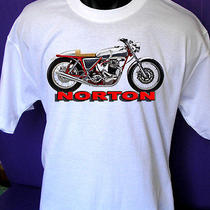 Norton Motorcycle T-Shirt (Norton Commando Tshirt)  Norton Bike Tshirt Photo