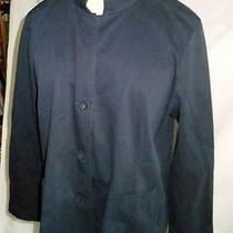 Nos New Old Stock Eileen Fisher Petite Jacket Cotton Tunic Long Pockets Mao  Photo