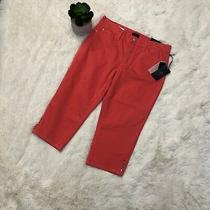 Not Your Daughter's Jeans Nydj Melon Pink Capris Crop Sz 10p Nwt Ariel Womens  Photo