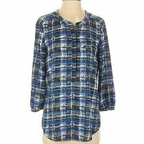 Not Your Daughter's Jeans Women Blue Long Sleeve Blouse S Photo