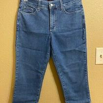 Not Your Daughters Jeans Denim Crop Jeans Sz 6 Medium Wash Stretch Photo