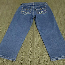 Not Your Daughters Jeans Lift Tuck Technology Blue Capri Size 4 20 1/2