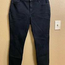 Not Your Daughters Jeans (Nydj) Denim Leggings Sz 14 Petite Black Slim Leg Photo