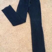 Not Your Daughters Jeans Size 4 Straight Leg Slightly Distressed Dark Wash Photo