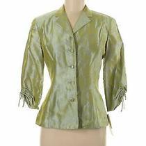 Noviello Bloom Suits Women Green Silk Blazer 6 Photo