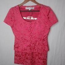 Noviello Bloom Women Pink Red Skirt Suit 4 Photo