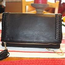 Nowt Authentic Torrid Tassel Clutch Faux Leather Blk Clutch/crossbody/hand Fun Photo