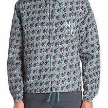 Nudie Jeans Josef Coach Jacket M Medium Njco Logo Boy B22 Turquoise Windbreaker  Photo