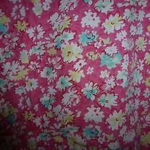 Nursing Uniform Nurse Scrub Top Sz S/m Dickies Pink Floral J4 Photo