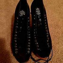 Nvw Jeffrey Campbell Leather Lace Up Wooden Wedges (Size 7) Originally 150 Photo