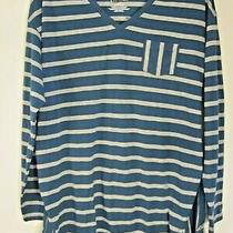 Nw Repaired Lane Bryant Blue & Gray Striped Top Tee T Shirt Plus Size 14/16 1x  Photo