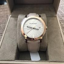 Nwb Burberry Bu9014 City Check Stamped Watch 38mm Rose Gold Unisex 495 Photo