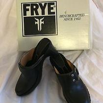 Nwb Frye Womens Black Leather Charlotte Ring Slides Heels Sz. 6m Photo