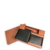 Nwb Men's Coach Compact Id Sports Calf Wallet/keychain Gift Set Black F 64118 Photo