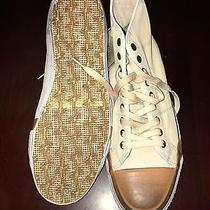 Nwb Men's Frye Chambers Off White Leather High Sneakers Size 9 Photo