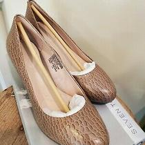 Nwb Rockport Pump 7 to 7 Size 6.5 W Fossil Croco Gris Leather Photo
