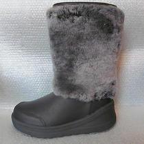 Nwb Ugg Australia Marien Leather Sheepskin Winter Boots Black Size 6.5/ 7 300 Photo