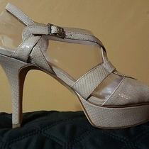 Nwb Vince Camuto Padrita Croissant Snake Patent Leather Caged Sandal Heel 10 Photo