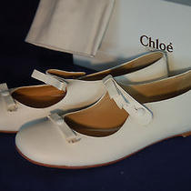 Nwb Women's Chloe White Flats Size 39 1/2 Photo