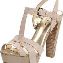Nwd Guess Omarla Leather Platform Sandal - Color Natural - Size 9.5m Photo