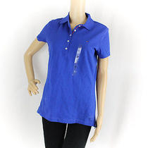 Nwd Tommy Hilfiger Short Sleeve Polo Top Electric Cobalt M Medium Free Shipping Photo