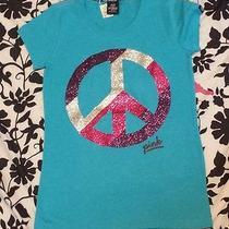 Nwd- Victoria Secret Pink Glitter Peace Sign Tee Medium M  Photo