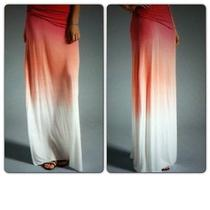 Nwd Young Fabulous & Broke Sierra Foldover Ombre Tie Dye Jersey Maxi Skirt S Photo