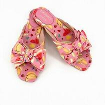 Nwob 138 J.crew Edie Parker X Bow Slide Sandals in Fruit Punch Size 8 Photo