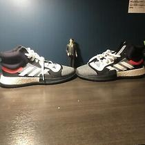 Nwob Adidas Mens Marquee Boost Basketball Shoes Mens Size 13 Gray Black Red Photo