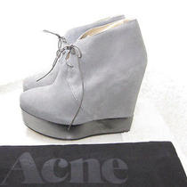 Nwob Authentic Acne Atacoma Laceup Wedge Boots 38 Photo