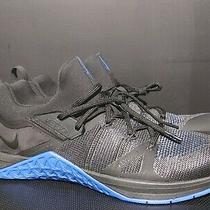 Nwob Authentic Nike Metcon Flyknit 3 Black & Blue Cross Training Shoes Size 11 M Photo