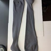 Nwob Balenciaga Knife Gray Bb Spandex Stretch Over the Knee Boots Heels 37 1850 Photo
