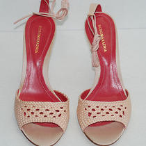 Nwob Bcbg Max Azria Pink & Cream Ballet Strap Heels Shoe Size 7.5 Made in Italy Photo