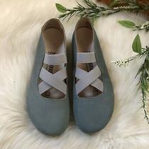 Nwob Birkenstock Santa Ana Blue Ballet Shoes Photo
