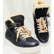 Nwob Coach Richmond Sneaker Wool/leather Upper Wedge Hightop Women's 6.5 Photo