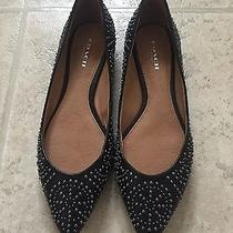 Nwob Coach Rory Almond Toe Studded Ballet Flats in Black Size 6 Photo