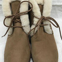 Nwob Display Ugg Booties Waterproof W-Size 8.5 Light Brown Photo