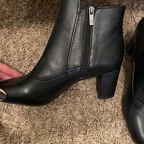 Nwob Donald J Pliner Paisley Black Leather Ankle Boots Size 11m Photo