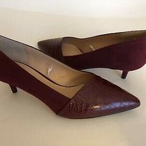 Nwob Franco Sarto Dorina Burgundy Red Classic Pumps Shoes Sz 7.5m Photo