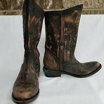 Nwob Freebird by Steven Rustler Brown Distressed Leather Boots Size 7 Photo