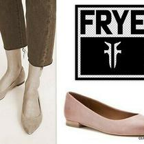 Nwob Frye Soft Beige Leather Sienna Pointy Toe Ballet Flat Size 5.5m in Lilac Photo