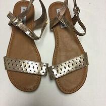 Nwob Girls Steve Madden Millie Rose Metallic Sandals Size 3 Photo