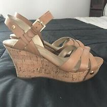 Nwob Guess Wedge Platform Cork Sandals Heels Wgmagie - Size 6.5 Photo