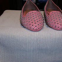 Nwob Jeffrey Campbell California Handmade Pink Flats With Silver Studs Size 6.5 Photo
