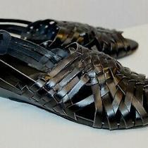 Nwob Jeffrey Campbell Celano Black Weave Wedge Sandals Slingback Shoes 9 40 M Photo