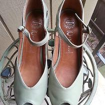 Nwob Jeffrey Campbell Mint Green Peep Toe Wedge Size 8 Photo