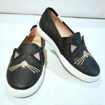 Nwob Kate Spade Keds Toddler Girl Shoes Sz 8m Double Decker Hayden Cat Black New Photo