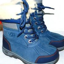 Nwob Kids Size 11 Ensign Blue Ugg  Butte Ii Cwr Cold Weather Leather Boots Photo