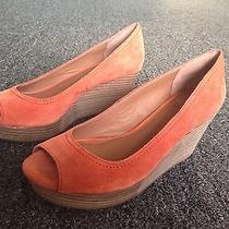 Nwob Lucky Brand Issy Orange Platform Wedges.  7m Photo